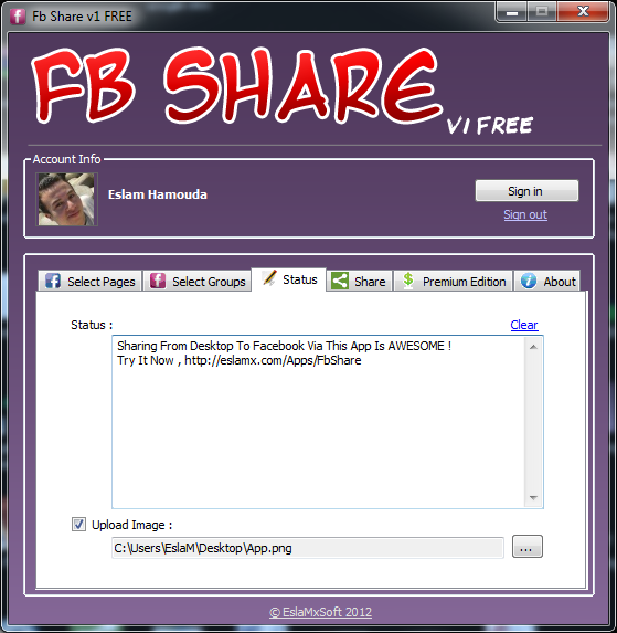 FBShare تطبيق جديد للنشر في كل صفحاتك والجروبات المشترك بها على الفيس بوك